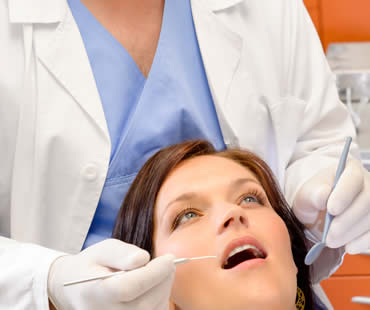 Dental office checkup